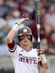 Mississippi State senior center fielder Jake Mangum became the Bulldogs' all-time leading hitter Friday night against Tennessee. Mangum, who has 336 hits and counting, passed former MSU second baseman Jeffrey Rea, who racked up 335 during his career (2004-07).