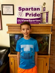 Brayden Mentzer is going to be a Lakeview Middle School fifth-grader next school year.