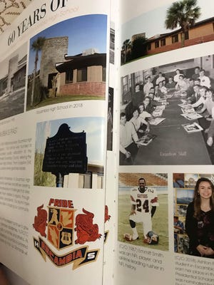 A page from the Escambia High School yearbook that was cut out and replaced with another page.