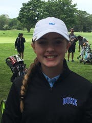 Bailey Shoemaker, Unadilla Valley seventh-grader, turned in record-setting round in Sunday's Round 2 of state girls golf championships.