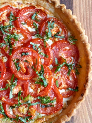 Fresh Tomato Ricotta Tart in Puff Pastry is a beautiful way to use fresh tomatoes.