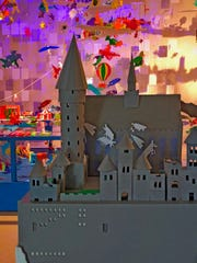 A 3D paper version of Hogwarts, the school of wizardry,