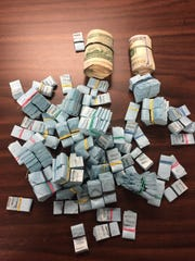 Delaware police departments routinely seize hundreds of bags of heroin from the streets. This is a photo of more than 3,500 bags of heroin, and $2,600 in suspected drug money that were seized in a Dover drug bust earlier this year.