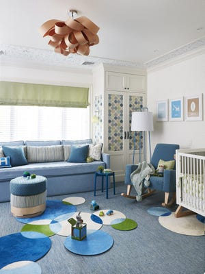 """For parents seeking an """"eco-friendly"""" nursery, designer Jenny Dina Kirschner suggests researching materials used not just for upholstery, but also in the interior of any furniture."""