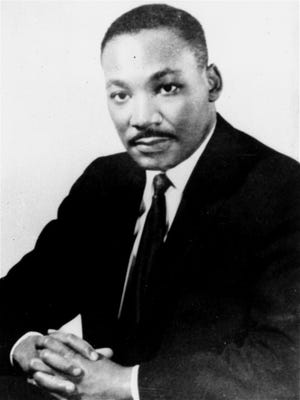 Civil rights leader Dr. Martin Luther King Jr. is pictured in an undated portrait. Location unknown.