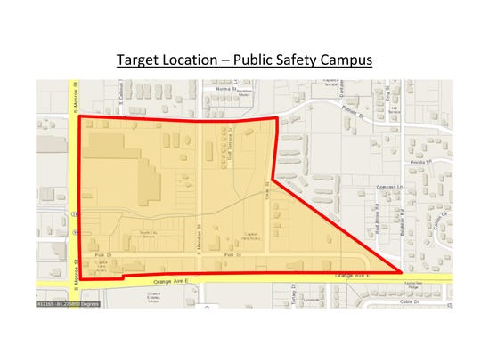 Proposed site of new TPD headquarters. (February 2018)