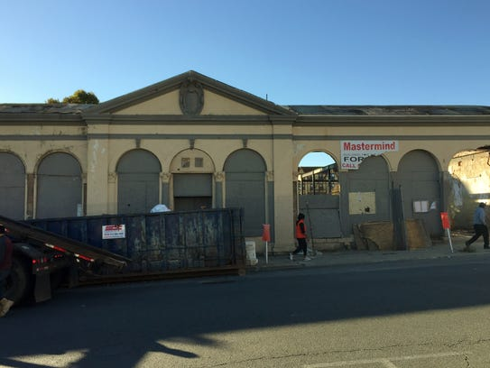 The former train station at 222 E. Third St. in Mount