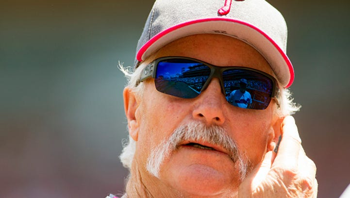 Philadelphia Phillies pitching coach Bob McClure a