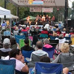 The Sean Carney band plays for the 2014 Hot Licks Blues Fest.