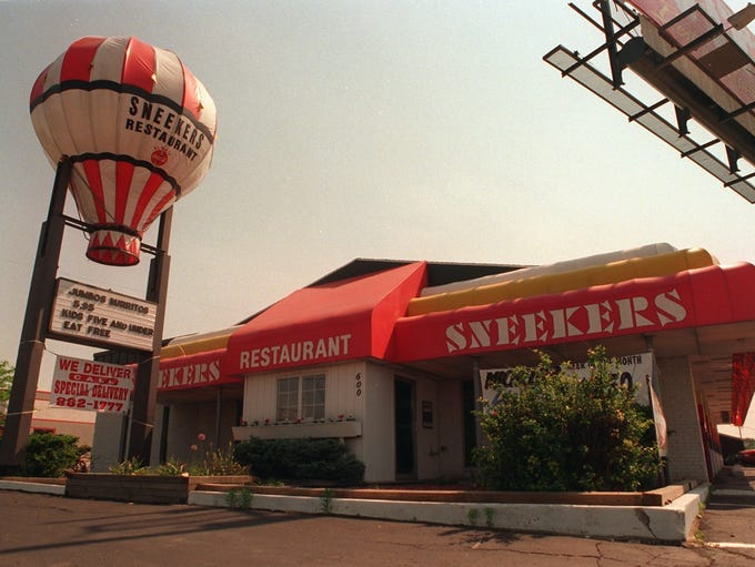 Sneekers Restaurant closed in June 1997.