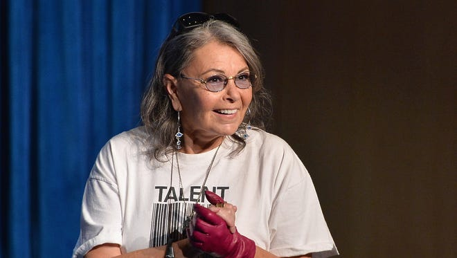 Roseanne Barr at the March 10, 2014, announcement of the annual PaleyFest Icon Award at the Paley Center for Media in Beverly Hills, Calif.