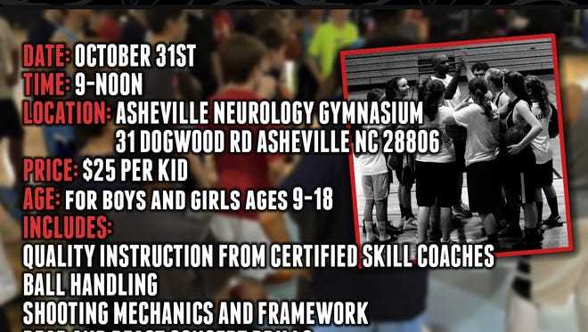 JWB Elite Training will hold a Halloween basketball clinic in Asheville.