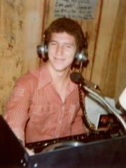 Mobile DJ Phil Valentine in 1979 in Charlotte, N.C.