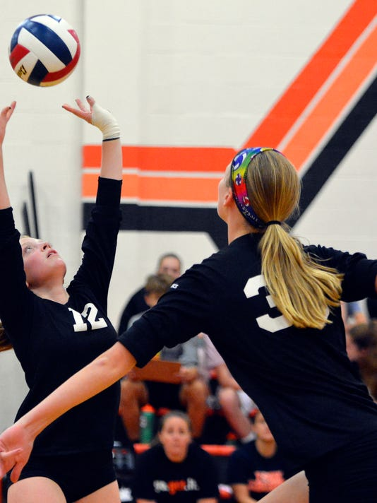 Gettysburg at York Suburban girls' volleyball