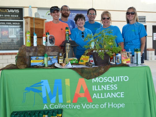 Members of the Mississippi-based Mosquito Illness Alliance