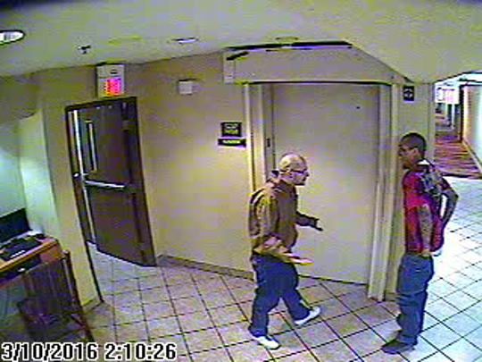Joseph Cruz and Lionel Clah were spotted on surveillance video in Albuquerque around 4:30 a.m. Thursday.