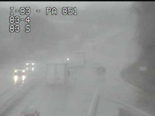 A crash on Interstate 83 northbound near the Shrewsbury