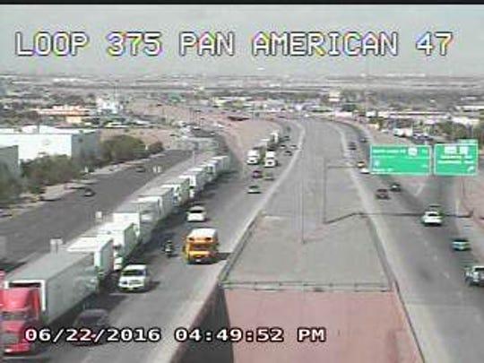 Traffic along the Cesar Chavez Border Highway at Pan