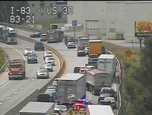 Interstate 83 crash