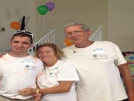 The Millers, from left, Benjamin, Sharon and Jerry,