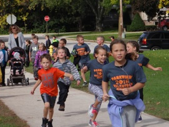 Parkview Elementary School students in Plymouth participated