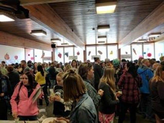 Hundreds gathered for VeganFest 2017.