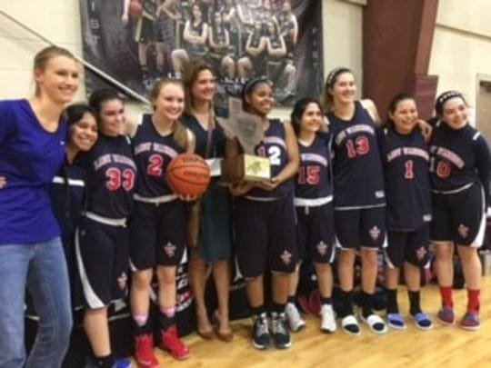 The Annapolis Christi Academy girls basketball team won the TCAL 1A state championship last month. Team members: Gabby Cumby; Victoria Rabagos; Lauren Reynolds; Madison Gohlke; Avery Long; Hannah Cisneros; Camryn Gonzalez; Nadia Rodriguez; Madeleine Jonker; coach Alexis Newton.