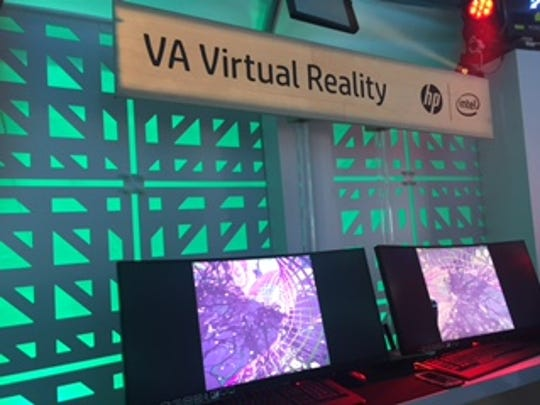 Coachella festival goers were able to experience HP's virtual reality technology in one of the company's two domes on the festival grounds.