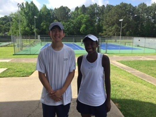 Loyola's Paul Sin and Tiffani Nash were singles champs at the LHSAA Division III, Region I Tennis Championships.