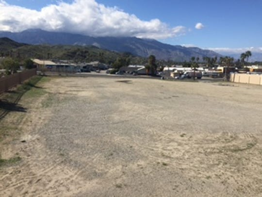 The site of a future Cathedral City park, at the corner of Cathedral Canyon Drive and Avenida Lalo Guerrero.