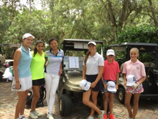 Claire Sattler (left), Jasmine Mendez, LPGA Tour player
