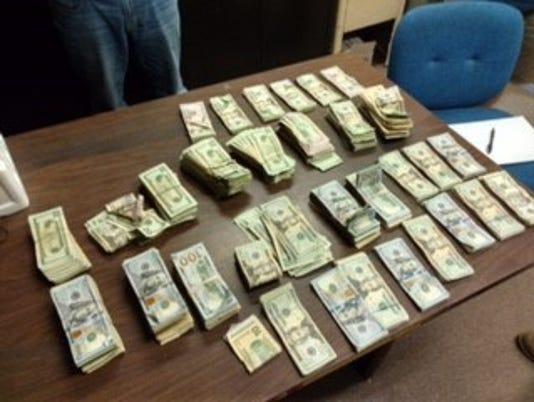Suspected drug money