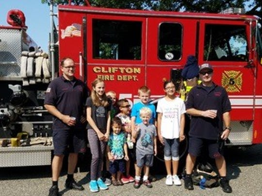 Clifton Fire Station 5 firefighters volunteered their