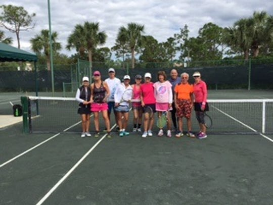 Tennis players took part in a round robin tennis tournament