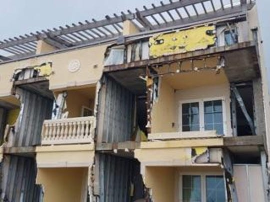 The severely damaged Westin Dawn Beach Resort and Spa after Hurricane Ima. John worked at the resort.