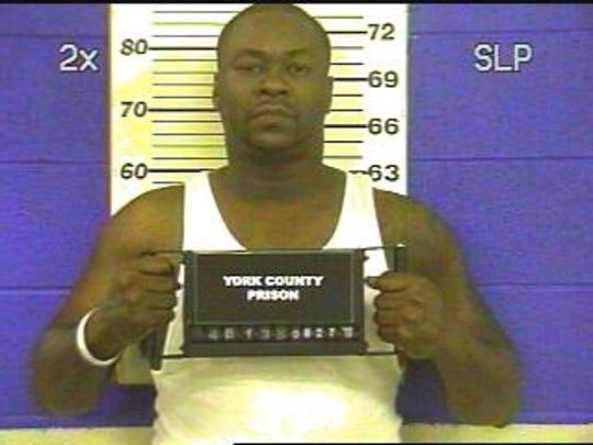 "Roscoe ""P-Shawn"" Villega, show in a 2010 mug shot from York County Prison"