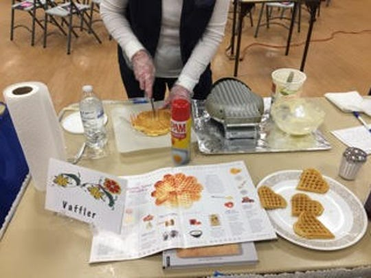 The local Sons of Norway chapter members held baking