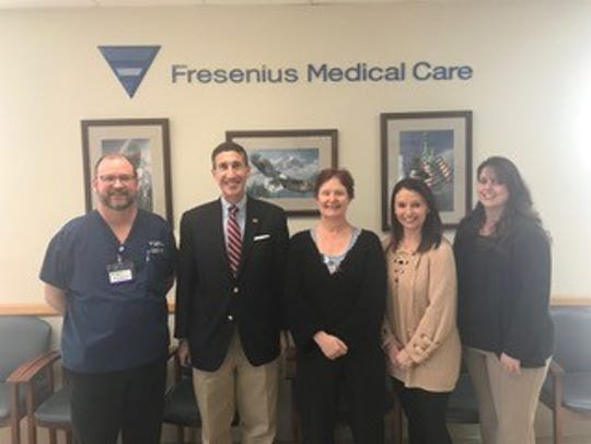 Congressman David Kustoff visits with dialysis patients