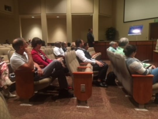 Residents of Lee County turned out to sprak out on a proposal for a half-cent sales tax Tuesday night.