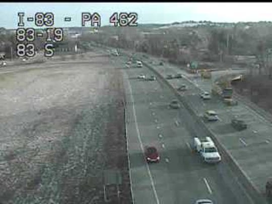 This is a view from the traffic camera at I-83 and Market Street.