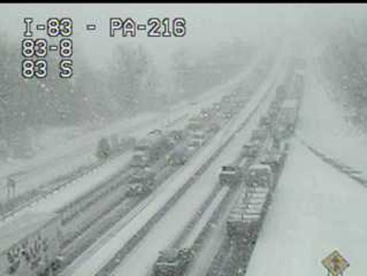 Crash I-83 Glen Rock 3/20