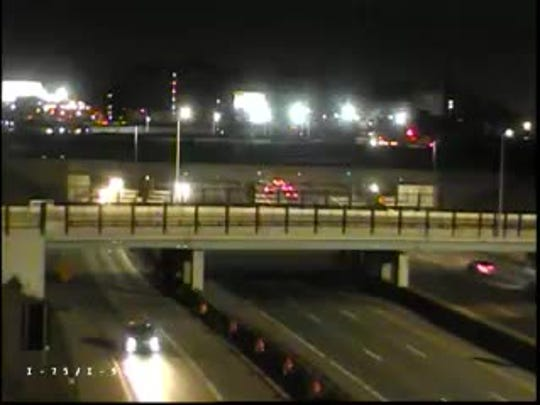 Crews closed southbound Interstate 75 at I-94 for bridge repairs early Wednesday, March 21, 2018