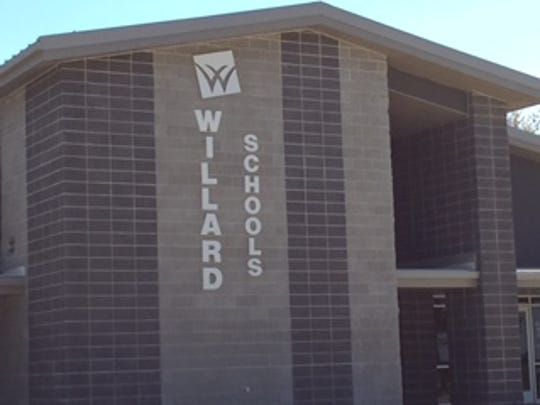 The Willard school board will meet Tuesday at the district's central office.
