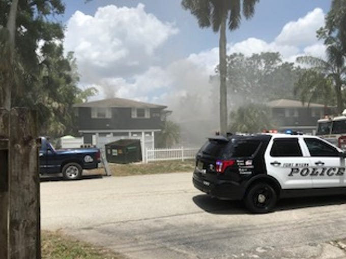 A Fort Myers police and firefighters responded to a