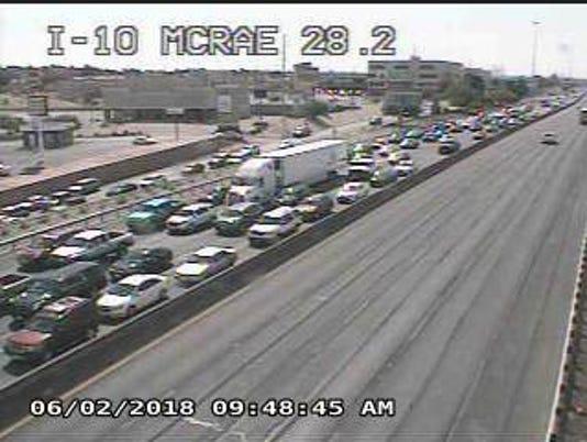 Interstate 10 fatal crash backup