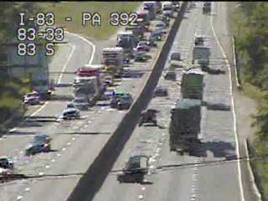 Crash I-83 north 7/12