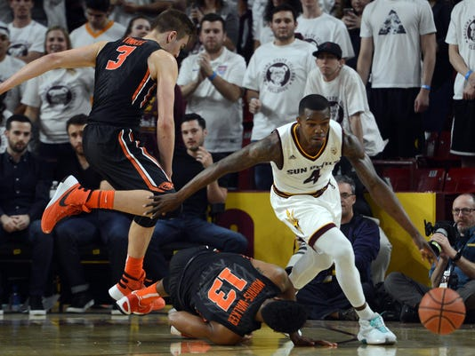 NCAA Basketball: Oregon State at Arizona State