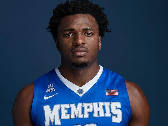 Memphis freshman Victor Enoh