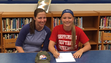 Waynesboro's Katie Wise (right) signs her National