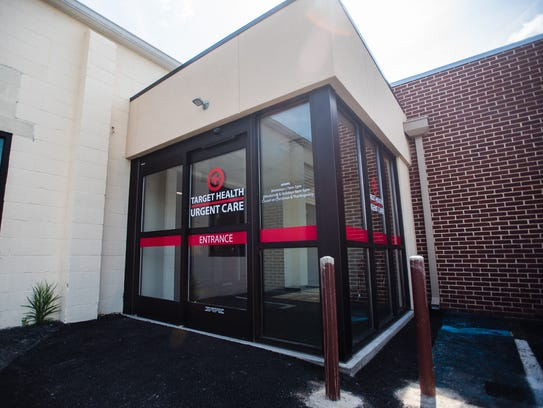 The main entrance to Target Health Urgent Care seen